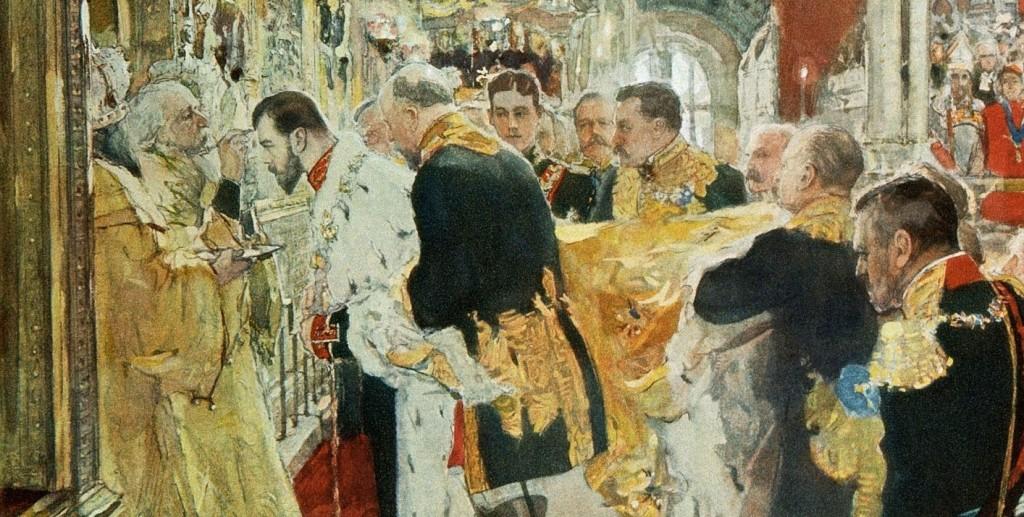 Валентин-Серов-—-Миропомазание-Николая-II-в-Успенском-соборе-эскиз-1896-Фрагмент-1024x517