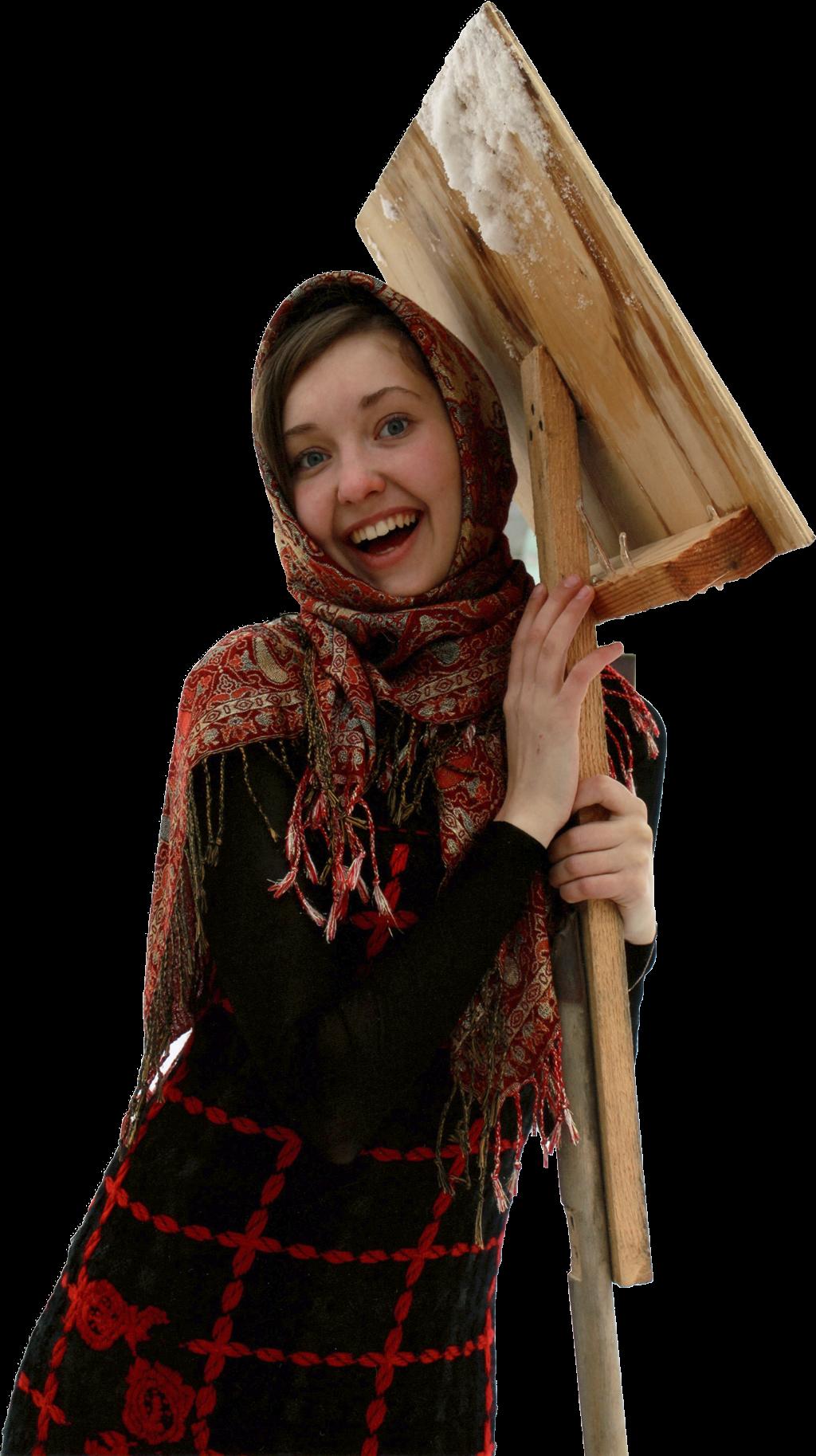 Катя с лопатой
